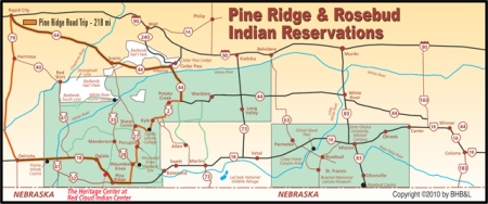 Rosebud and Pine Ridge Indian Reservations
