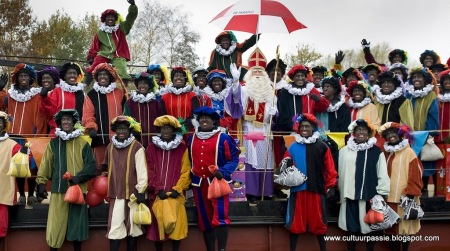 Sinterklaas and his black Pieters